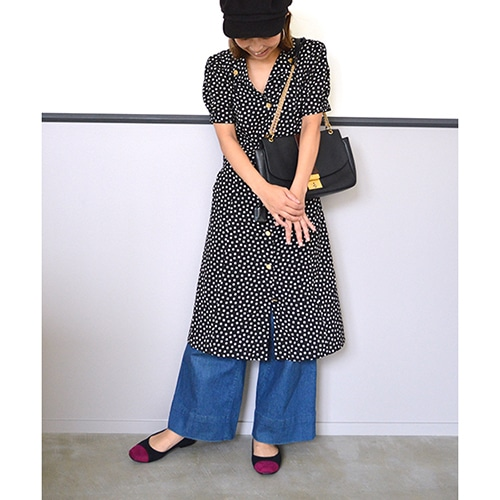 ★SALE★スクエアトゥコンビパンプス【Made in Japan】/138-03025